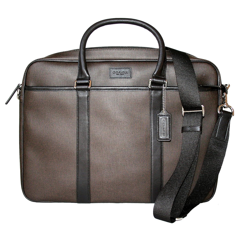 f20e161f5d COACH ESPRESSO CGC SLIM BRIEFCASE Business work crossbody BAG 71389 ...