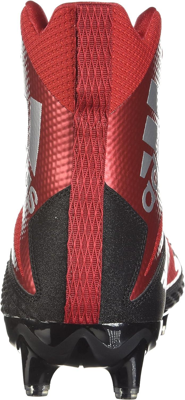 adidas Men's Freak X Carbon Mid Football Shoe Core Black/White/Power Red