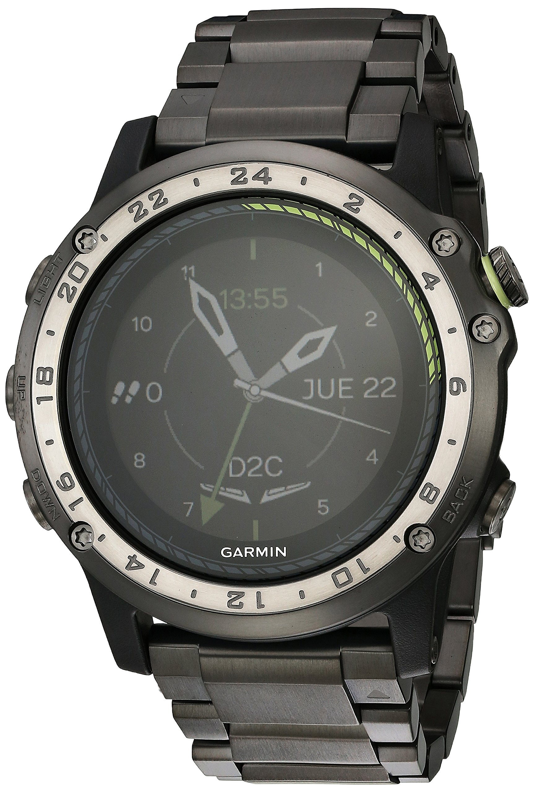 D2 Charlie Aviator Watch, Titanium Edition (Americas) by Garmin