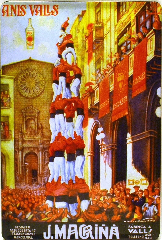 Cartel Póster publicitario de Chapa metálica con diseño Retro ...