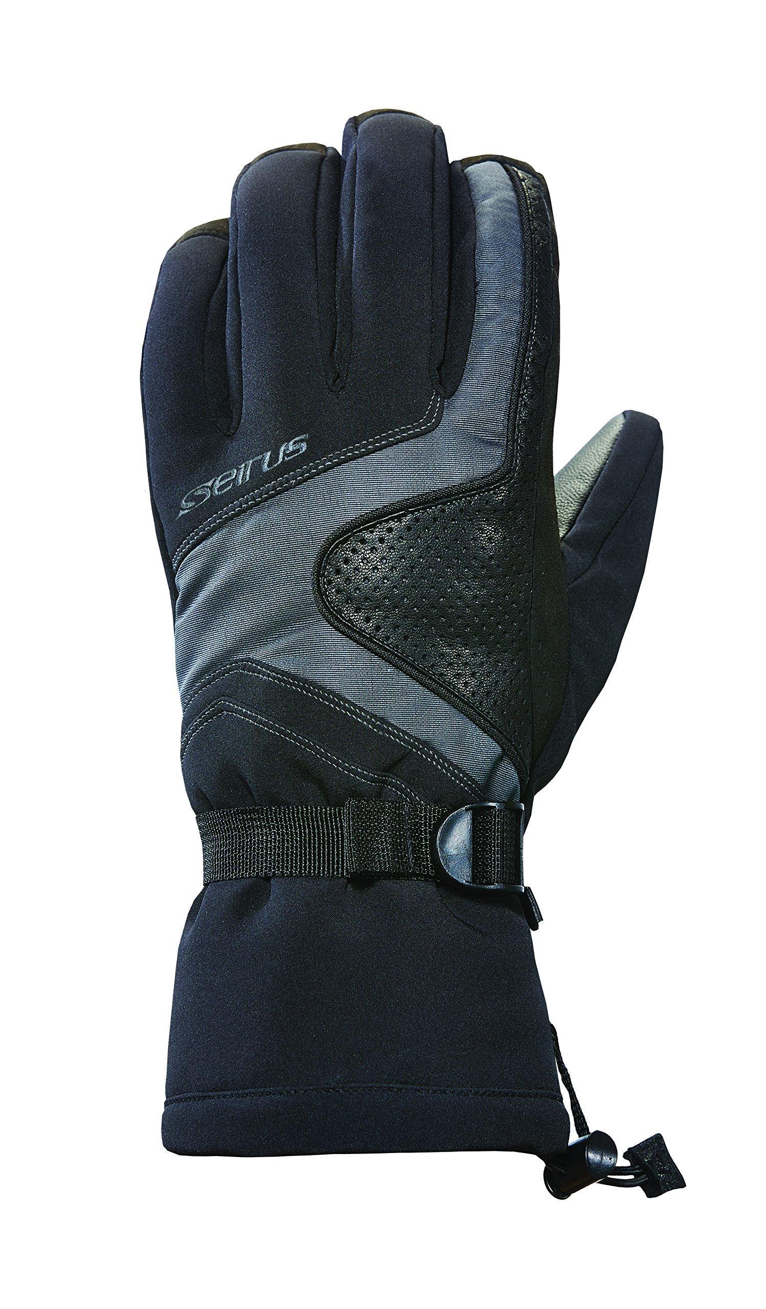 Seirus Innovation Men's Heatwave Plus Shine Cold Weather Waterproof Gloves, Black, Medium