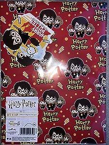 Papel para envolver de Harry Potter. 2 hojas y 2 etiquetas. De ...