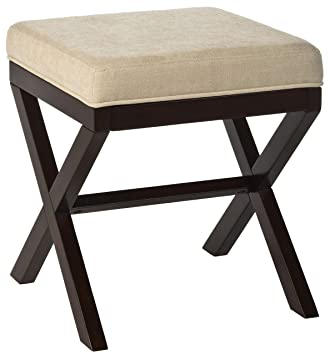 Pleasant Morgan Wood And Upholstered Backless Vanity Stool Espresso Cjindustries Chair Design For Home Cjindustriesco