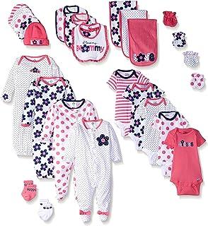8a3e6e9c4 Amazon.com: Gerber Baby Girls' 19 Piece Baby Essentials Gift Set ...