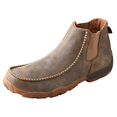Twisted X Men's Twin Gore Driving Moccasins Bomber - High-Shaft Outdoor Casual Footwear | Loafers & Slip-Ons