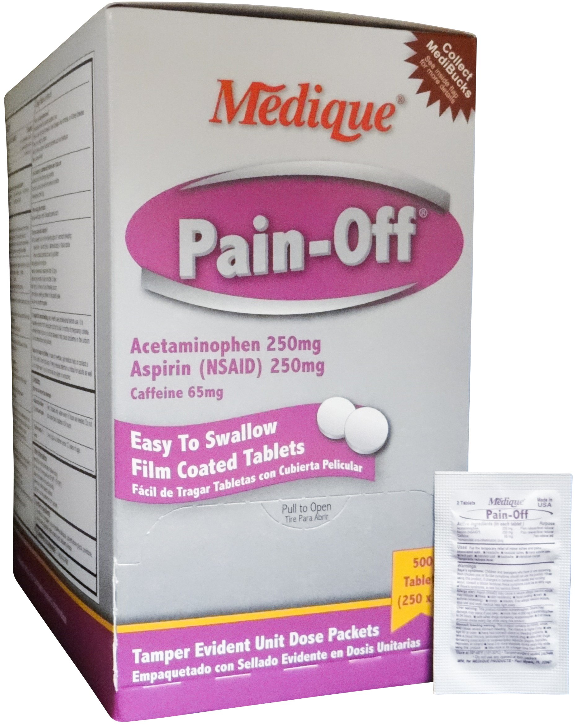 Medique Pain-Off Acetaminophen Pain Reliever Tablets - MS71175 (3,000) by Medique