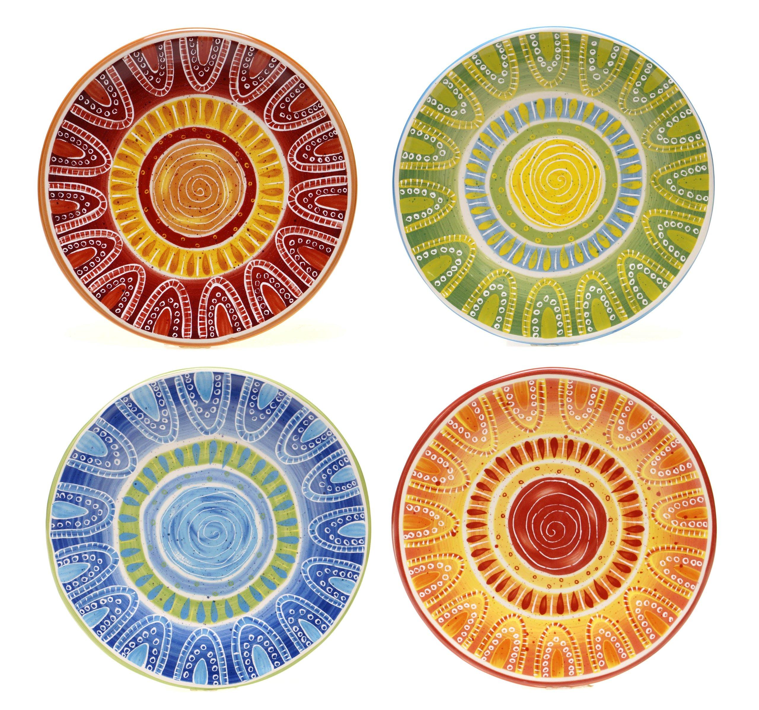 Certified International San Marino Dessert Plates (Set of 4), 8.75'', Multicolor