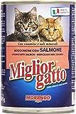 Migliorgatto - Bocconcini con Salmone, con Vitamine e Sali Minerali - 405 g