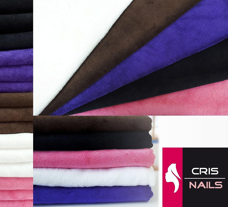 Crisnails® Toallas de Microfibra Secado Rápido para Peluquería Paquete de 3, 35cm x 75cm, Varias Colores (Pack-3, Rosa): Amazon.es: Hogar