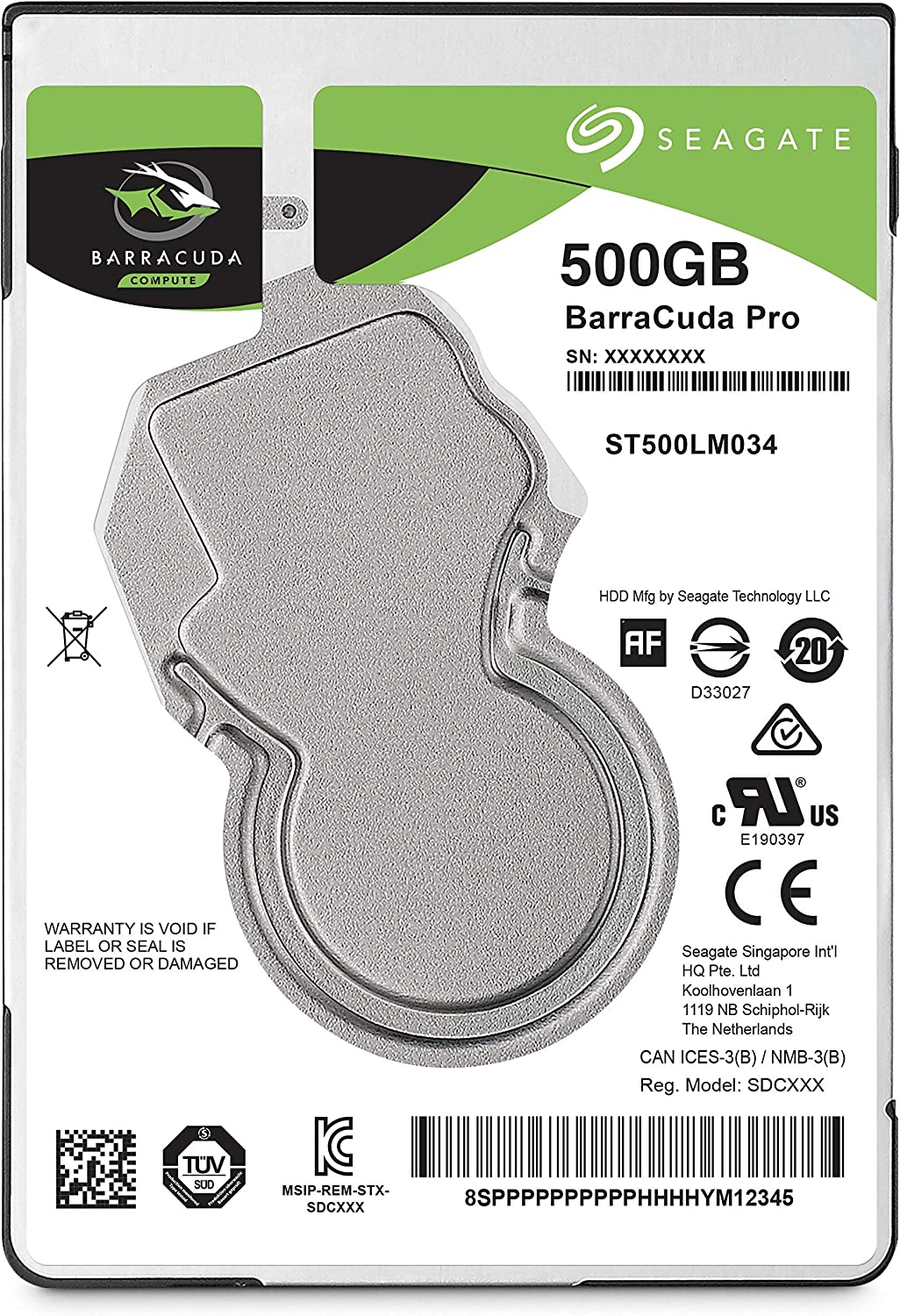 Seagate BarraCuda Pro 500GB Internal Hard Drive Performance HDD – 2.5 Inch SATA 6Gb/s 7200 RPM 128MB Cache for Computer Desktop PC Laptop, Data Recovery (ST500LM034) (Renewed)