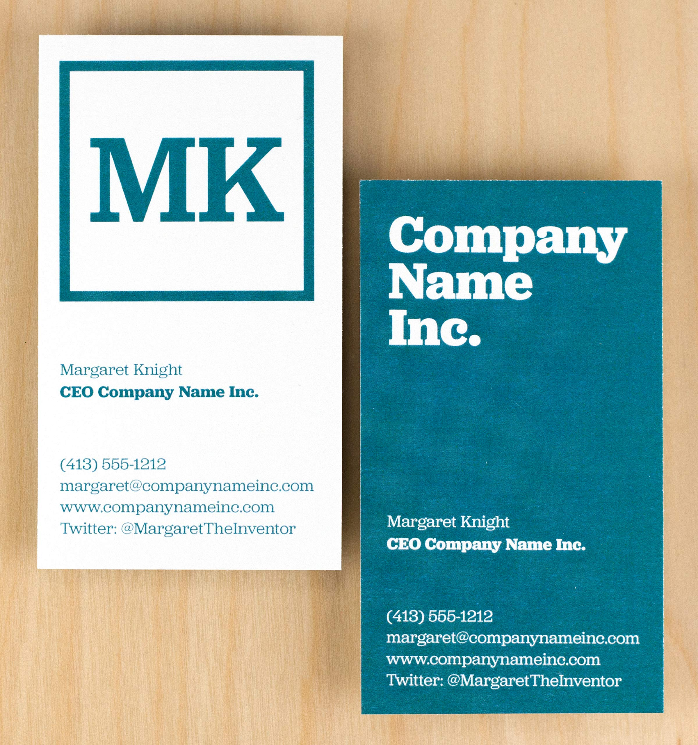Buttonsmith Custom Ultra Thick Printed Business Cards - 3.5''x2'' - Quantity 500 - Double-Sided, 32 pt Smooth Touch - Made in The USA by Buttonsmith (Image #8)