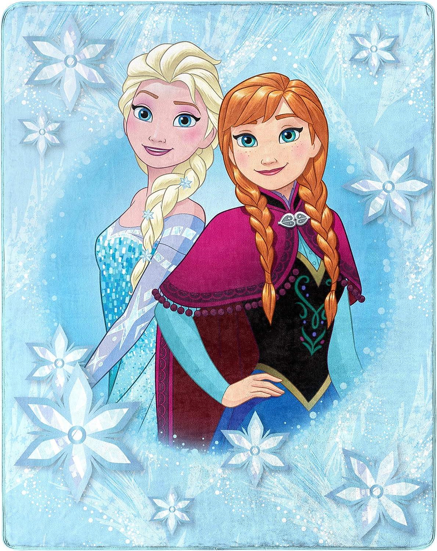 Disney Frozen 2 Elsa Throw Blanket and Pillow 40 x 50 Inches