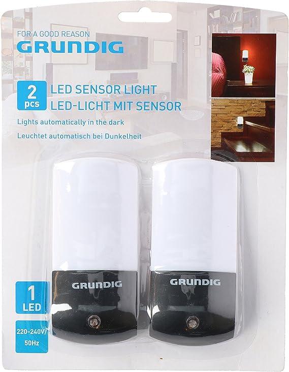 Grundig 871125254025 LED de luz con sensor (2 unidades), plástico ...
