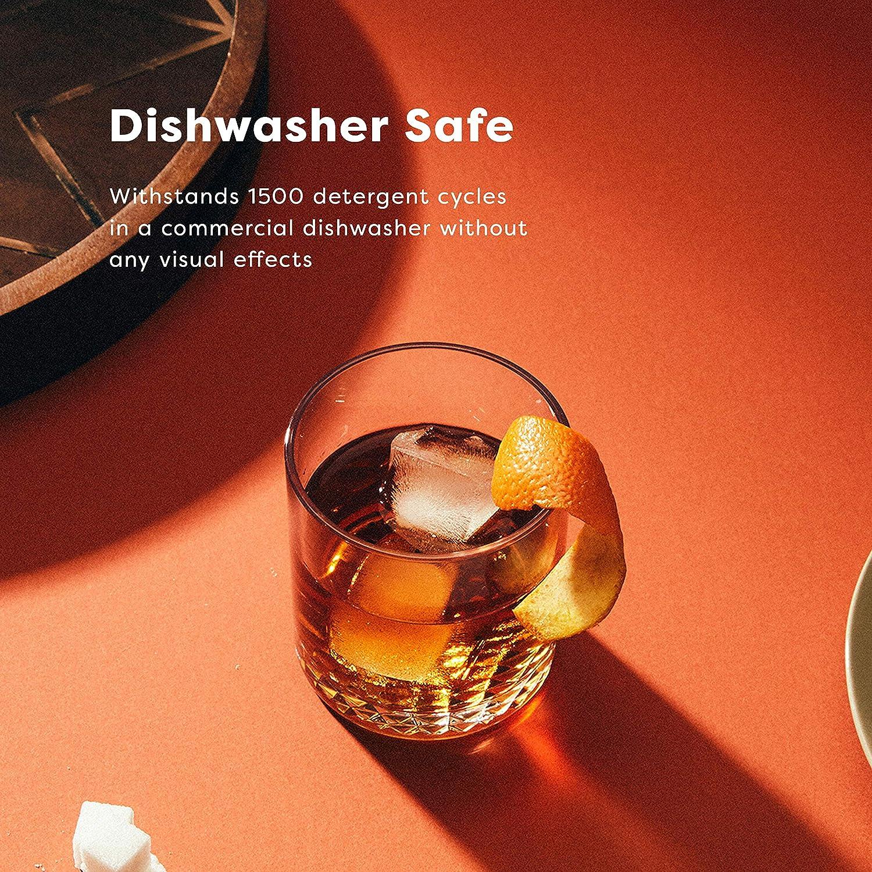SET OF 4 TOSSWARE Reserve 12oz Old Fashion Tritan Cocktail Dishwasher Safe /& Heat Resistant Unbreakable Plastic Whiskey Glasses