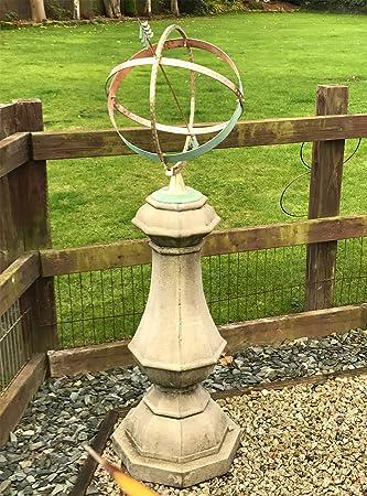 Merveilleux Statues U0026 Sculptures Online Garden Sundial   Large Marino Armillary Stone  Sun Dial