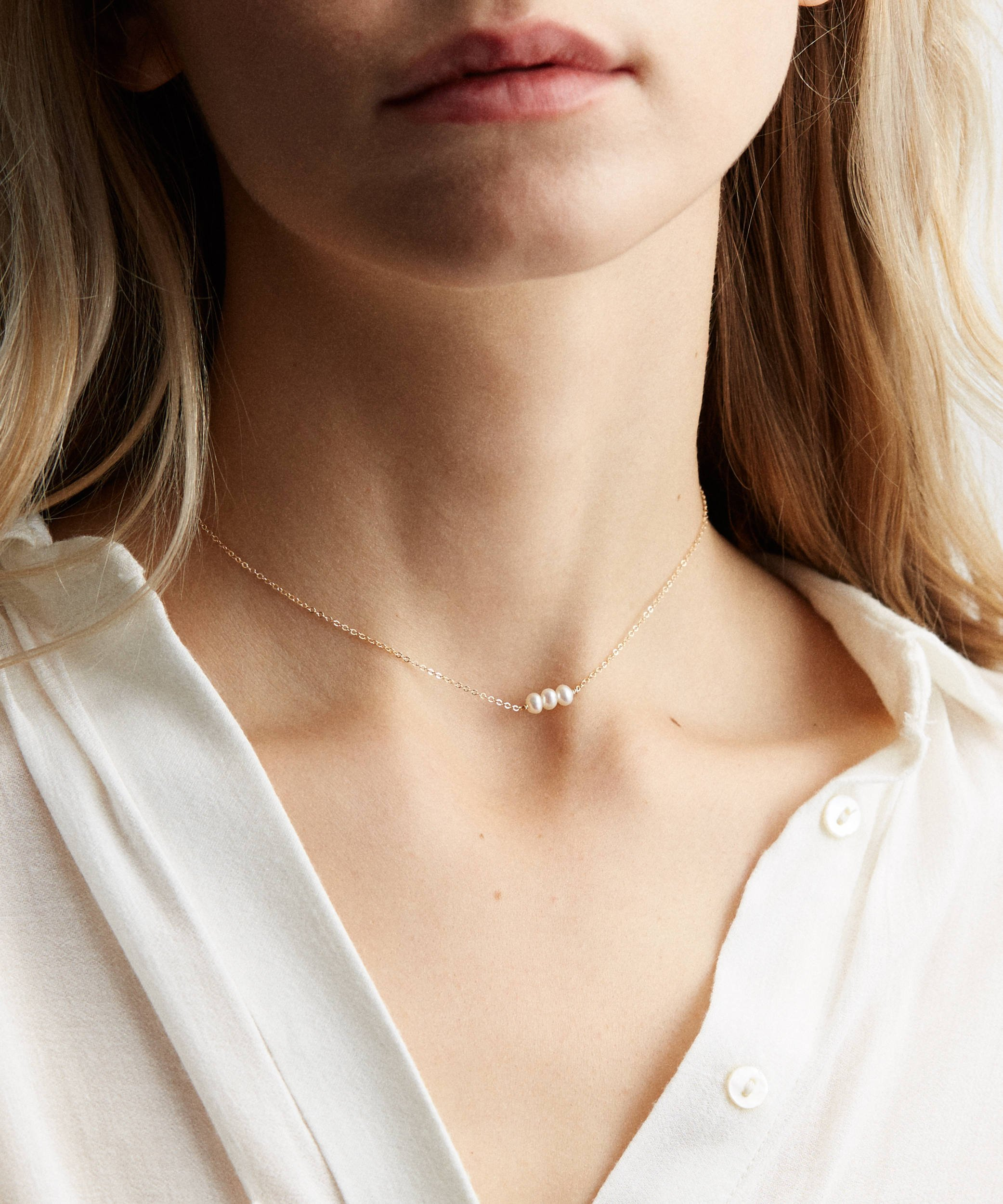 8a6bdf196 Befettly Womens One Layers Gold Choker Necklace Imitation Pearls Pendant  Handmade 14K Gold Fill Boho Chain-CK2-3Pearls - Necklace-CK2-3Pearls <  Pendants ...