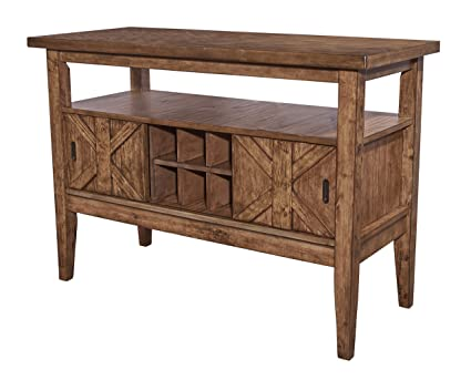 Amazon Com Powell Furniture 16d8212sv Cohen Kitchen Server