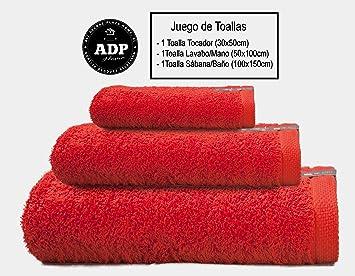 ADP Home - Juego de Toallas 550 Grms 3 Piezas (Toalla Sábana/Baño,
