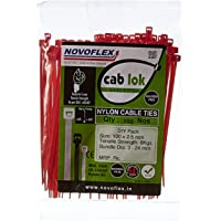 Novoflex 100mm Cable Ties, Red, Pack of 100
