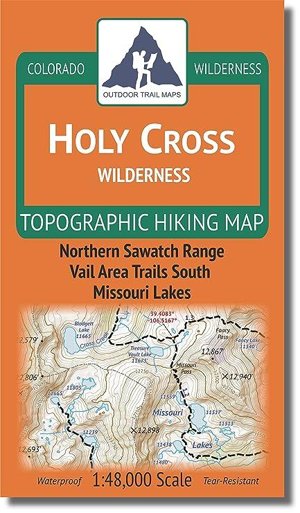 Amazon.com : Outdoor Trail Maps LLC Holy Cross Wilderness - Colorado ...