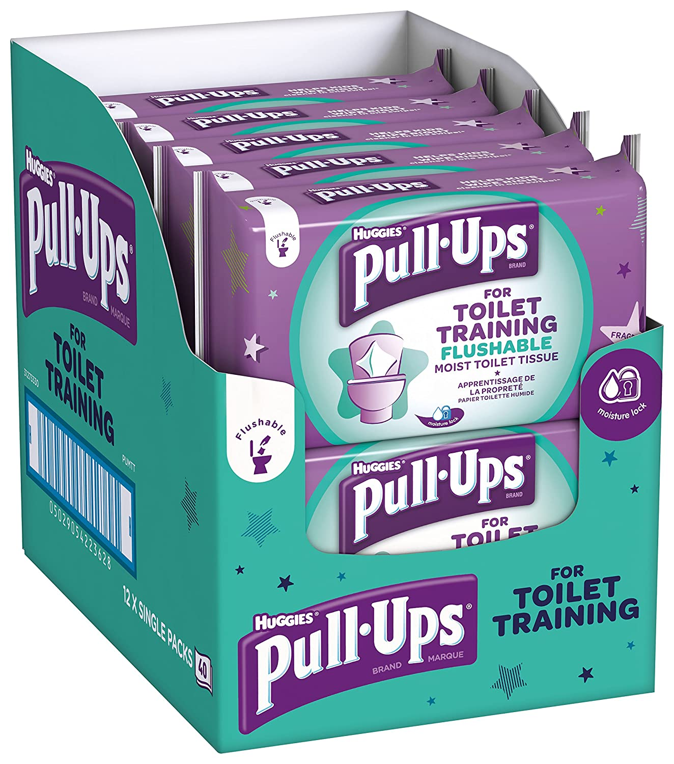 Huggies Pull Up 's WC-Training Feuchttücher, 12 Stück 12 Stück Kimberly Clark 4514798