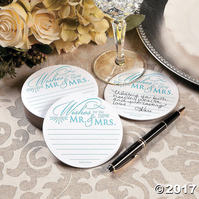 Amazon.com | Wedding Wishes Advice Coasters for Wedding Receptions ...