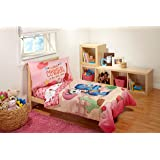 """Disney 4 Piece Sheriff Callie """"Cutest Cowgirl"""" Toddler Bed Set, Pink"""