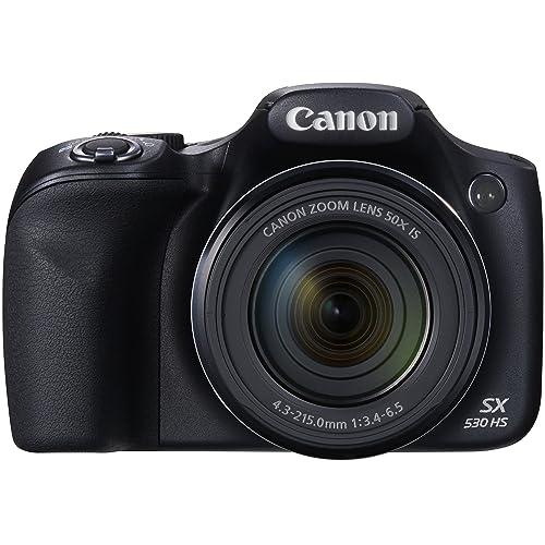 """Canon Powershot SX530 HS Appareil photo numérique Bridge 16 Mpix Ecran 3,4"""" Zoom optique 50x - Noir"""