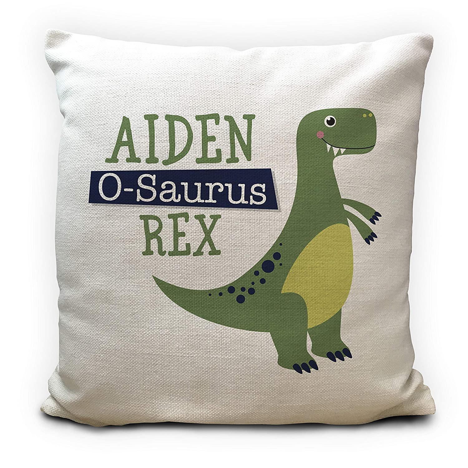Personalised Dinosaur Cushion Cover Pillow Case T Rex - 16 Inches 40cm