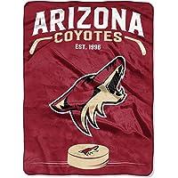 "Officially Licensed NHL Inspired Plush Raschel Throw Blanket, 60"" x 80"""