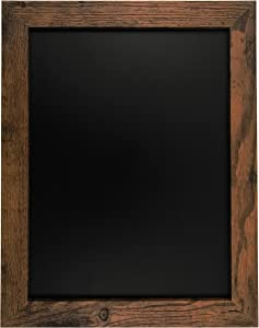 "Rustic Wood Premium Surface Magnetic Chalk Board- 11""x14"" by Loddie Doddie. Perfect Board for use with Chalk Markers and Home Decor."