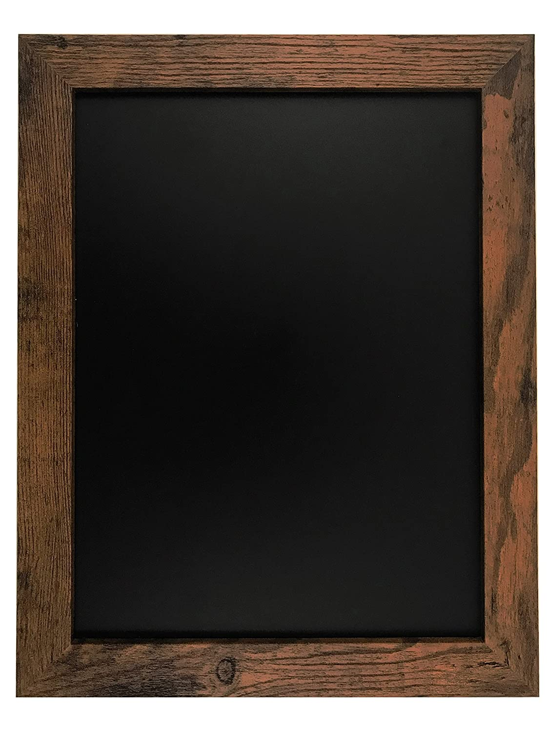 Rustic Wood Premium Surface Magnetic Chalk Board- 11x14 Perfect for Chalk Markers and Home Decor Loddie Doddie 58002