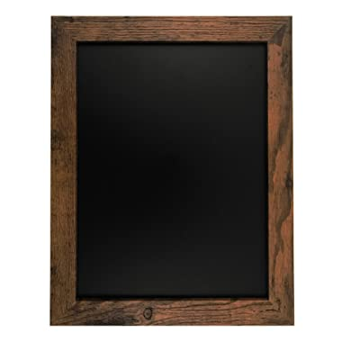 Rustic Wood Premium Surface Magnetic Chalk Board- 11 x14  Perfect for Chalk Markers and Home Decor