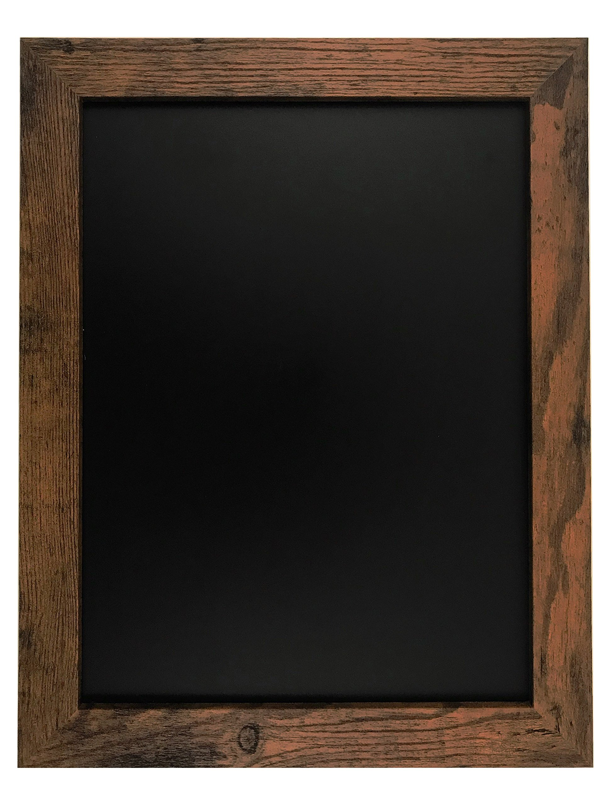 Rustic Wood Premium Surface Magnetic Chalk Board- 11''x14'' Perfect for Chalk Markers and Home Decor