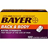Bayer Back & Body Extra Strength Aspirin, 500mg Coated Tablets, Fast Relief at the Site of Pain, Pain Reliever with 32…