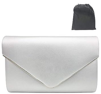 Handtasche Silberne Modische Silber Luxx Kleine Clutch Fashion Umhängetasche Envelope Schicke Tasche Damen ARL543jq