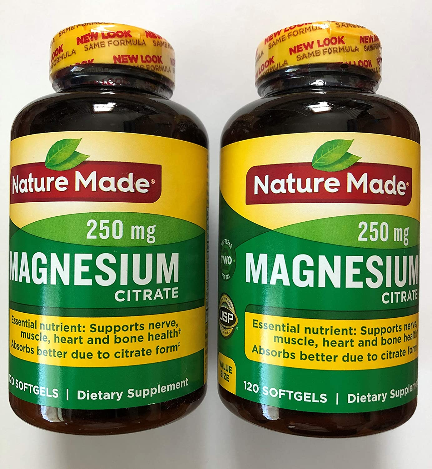 Nature Made Magnesium Citrate Softgels, 120 Count (Pack of 2)