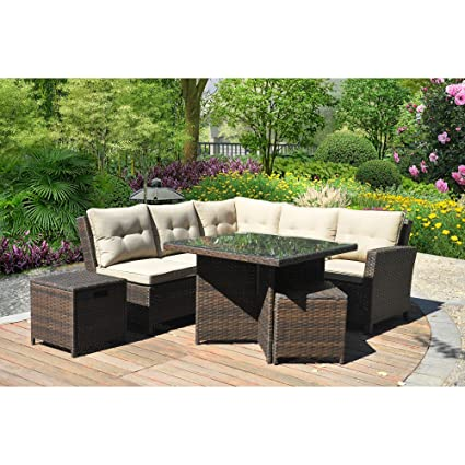 Amazon.com : Better Homes and Gardens Baytown 5-Piece Woven ...
