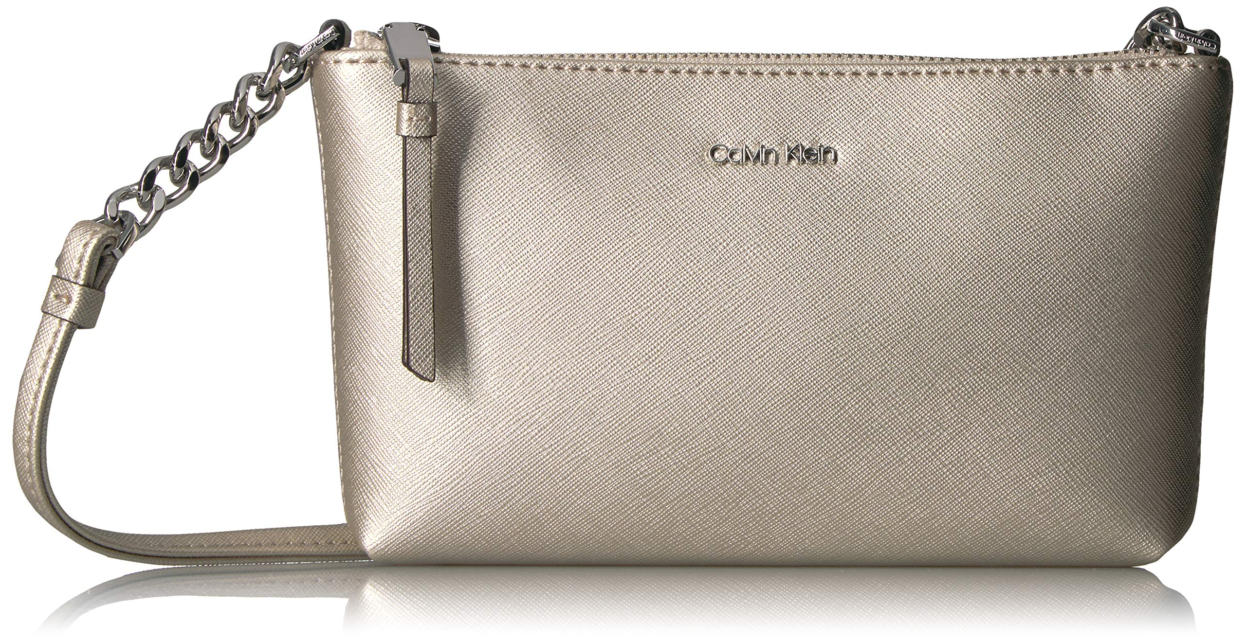 6ca04069cfe Calvin Klein Saffiano Leather Key Item Demi Shoulder Bag with Charm ...