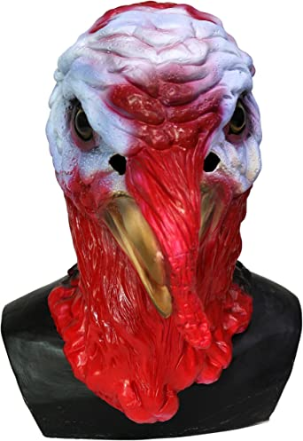 Latex Animal Realistic TURKEY BIRD Head Thanksgivings Christmas Dress Up Mask