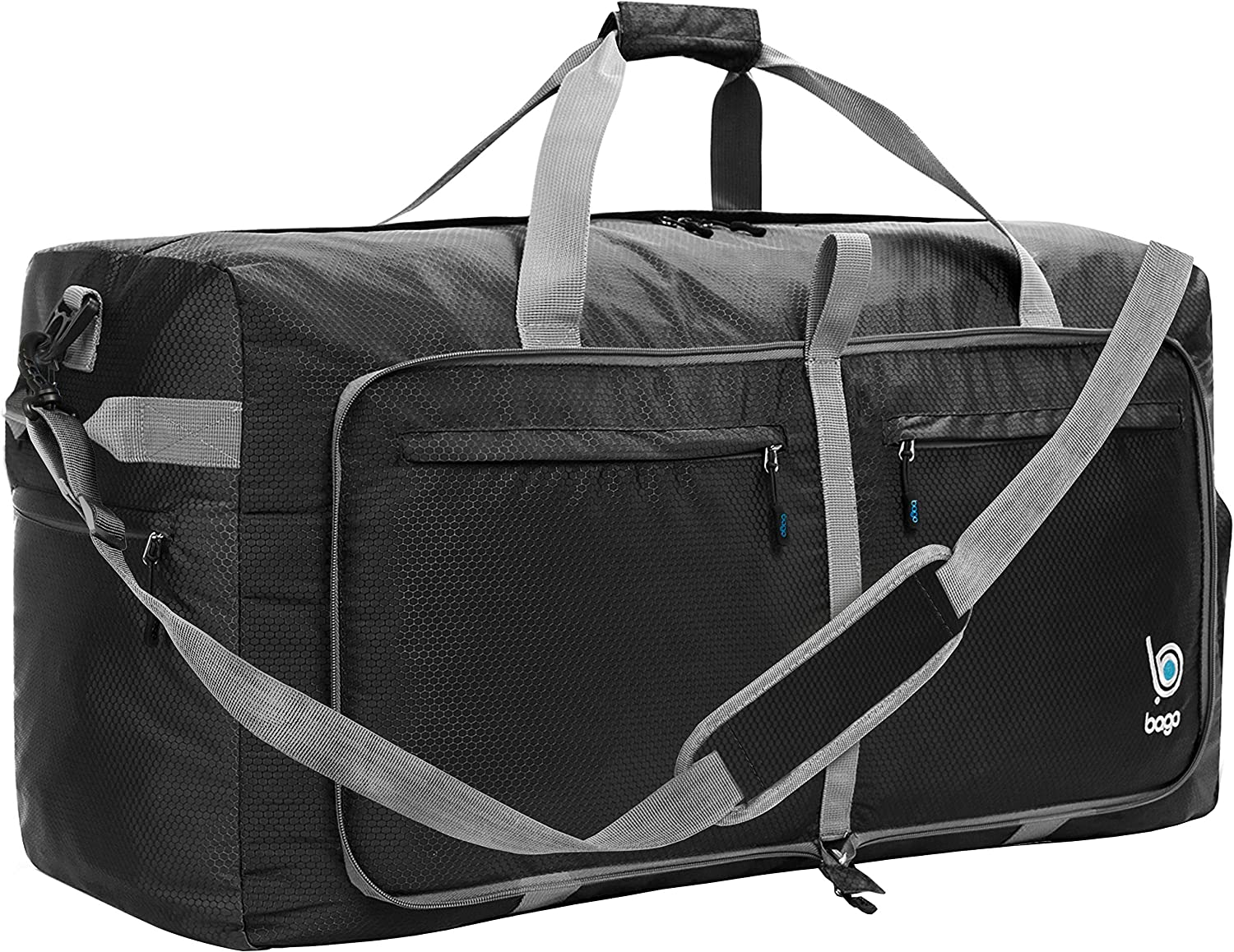 Zippered Compartments Foam And Dog Duffel Style Carry On Sports Travel Bag with Shoulder Strap