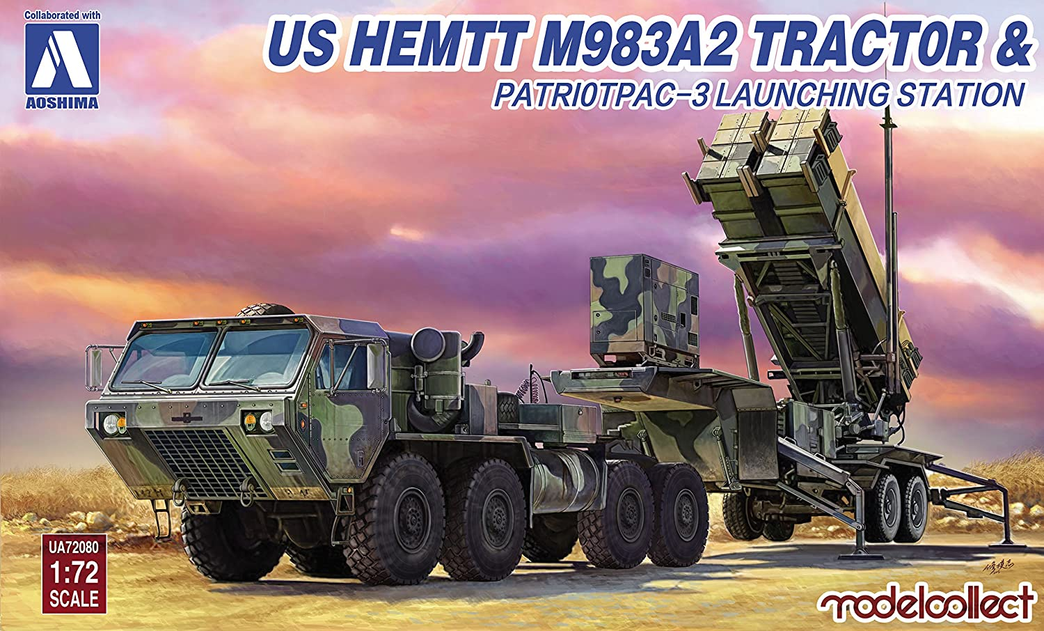 1/72 US Army HEMTT M983 & Patriot PAC 3 launch aircraft plastic model UA72080