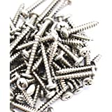 80 Piece Truss Head Screw Set for Dock Bumper Installation Marine Grade Stainless Steel 10 x 1-1/4 Inches SS