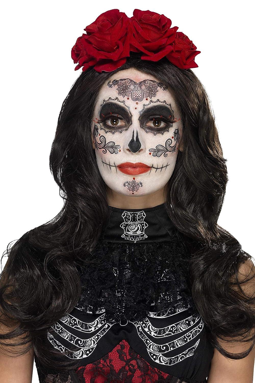 SmiffyS 44962 Kit de Maquillaje de Glamour Del Dóa de Muertos, Negro: Amazon.es: Juguetes y juegos