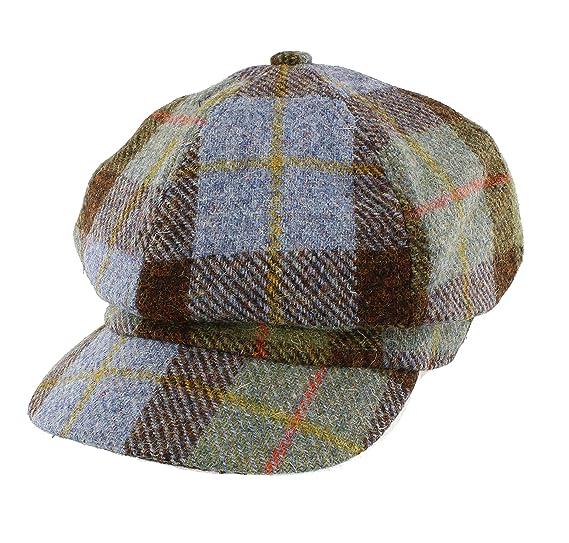 6ed9d4e592a Glen Appin Ladies Harris Tweed Bakerboy Cap (Colour 15 Gunn Tartan)   Amazon.co.uk  Clothing