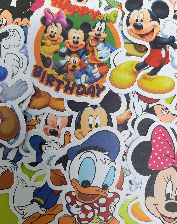 la Guitare. ND/_Lot de 50 Autocollants al/éatoire Minnie Mickey en Vinyle pour Ordinateur Mini-Stickers pour Valise de Voyage Le Casque Skate Moto d/éco