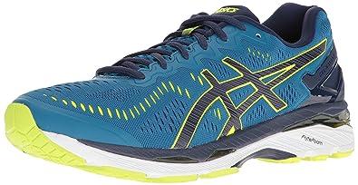 ASICS Men's Gel-Kayano 23 Running Shoe, Thunder Blue/Safety Yellow/Indigo