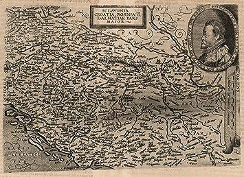 Amazon world atlas map 70 sclavonia croatia bosnia et world atlas map 70 sclavonia croatia bosnia et dalmatiae slovenia gumiabroncs Images