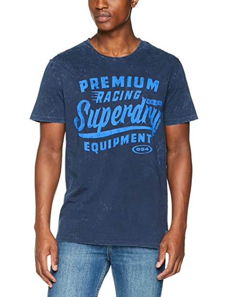 Premium Equipment tee, Camiseta para Hombre, Verde (Dash Green NA2), L Superdry