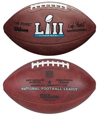 54fb884babf Amazon.com   Wilson NFL Super Bowl LII (52) Official Football New England  Patriots vs Philadelphia Eagles   Sports   Outdoors